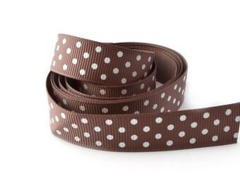 Ribbon 16 mm polka dot grosgrain