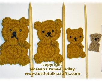Rolly Polly Flat Teddy Bear Woven on Weaving Sticks PDF Pattern