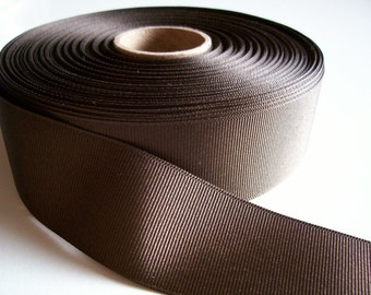 Brown Ribbon, Brown Grosgrain Ribbon 1 1/2 inches wide x 10 yards, SECOND QUALITY FLAWED