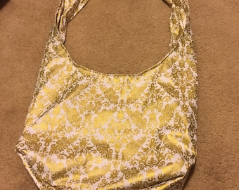 Golden Flower Hobo Bag