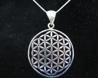 Sterling Silver Original Flower of Life Pendant Necklace
