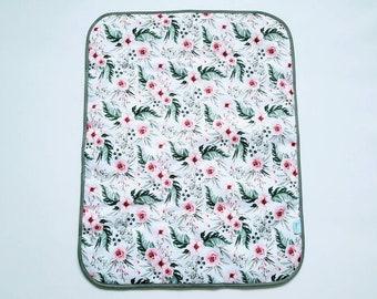 Flowers - Baby Change Mat - Travel Change Pad - Waterproof Change Mat