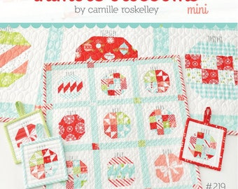 PATTERN mini VINTAGE HOLIDAY quilt and ornaments   We combine shipping