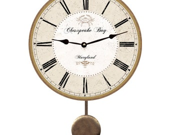 Personalized Pendulum Clock- Wall Clock
