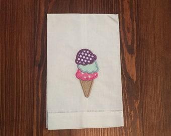 Summer Ice Cream Tea Towel