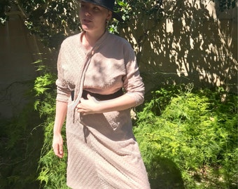 Late 70s/ early 80s vintage polyester Penny's dress