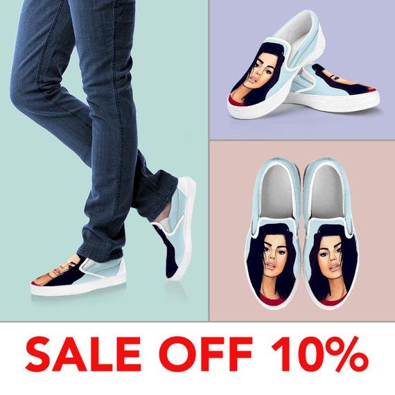 Selena Shoes Selena Slip Liar Drawing on Vans Slip Selena Selena Shoes Custom Selena Bad On Gomez Shoes Gomez Gomez Custom Selena Gift EOw8Rq