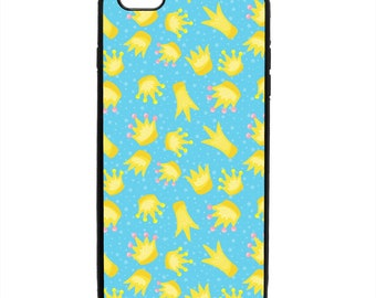 Frog Crown Pattern Phone Case Samsung Galaxy S5 S6 S7 S8 S9 Note Edge iPhone 4 4S 5 5S 5C 6 6S 7 7S 8 8S X SE Plus