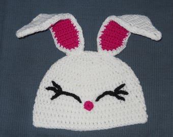 Bunny Rabbit Crochet Hat Easter Bunny Hat