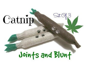Cat Toys - Felt  Kitty Joints And Blunt - Set Of 3