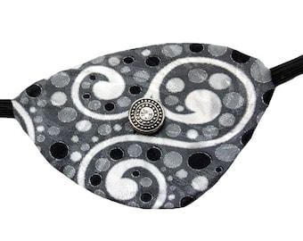 Silver Winds Eye Patch Polka Dot Steampunk Pirate Fashion Cosplay Rhinestone