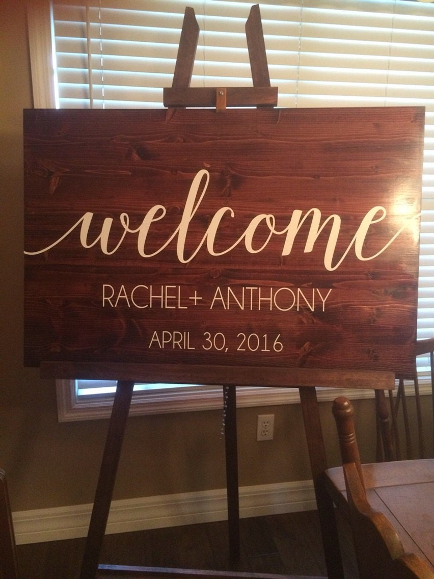 Welcome Sign Vinyl Decal Diy Wood Signs Wedding