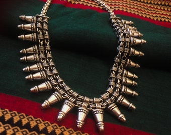 Handcrafted/ Boho/Choker/Ethnics /Tribal Statement Necklace.