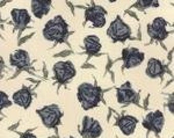 Wordsmith Floral Roses Quill - 1/2yd