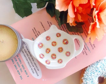 Donut love,  sweet dessert food coffee tea spoon rest