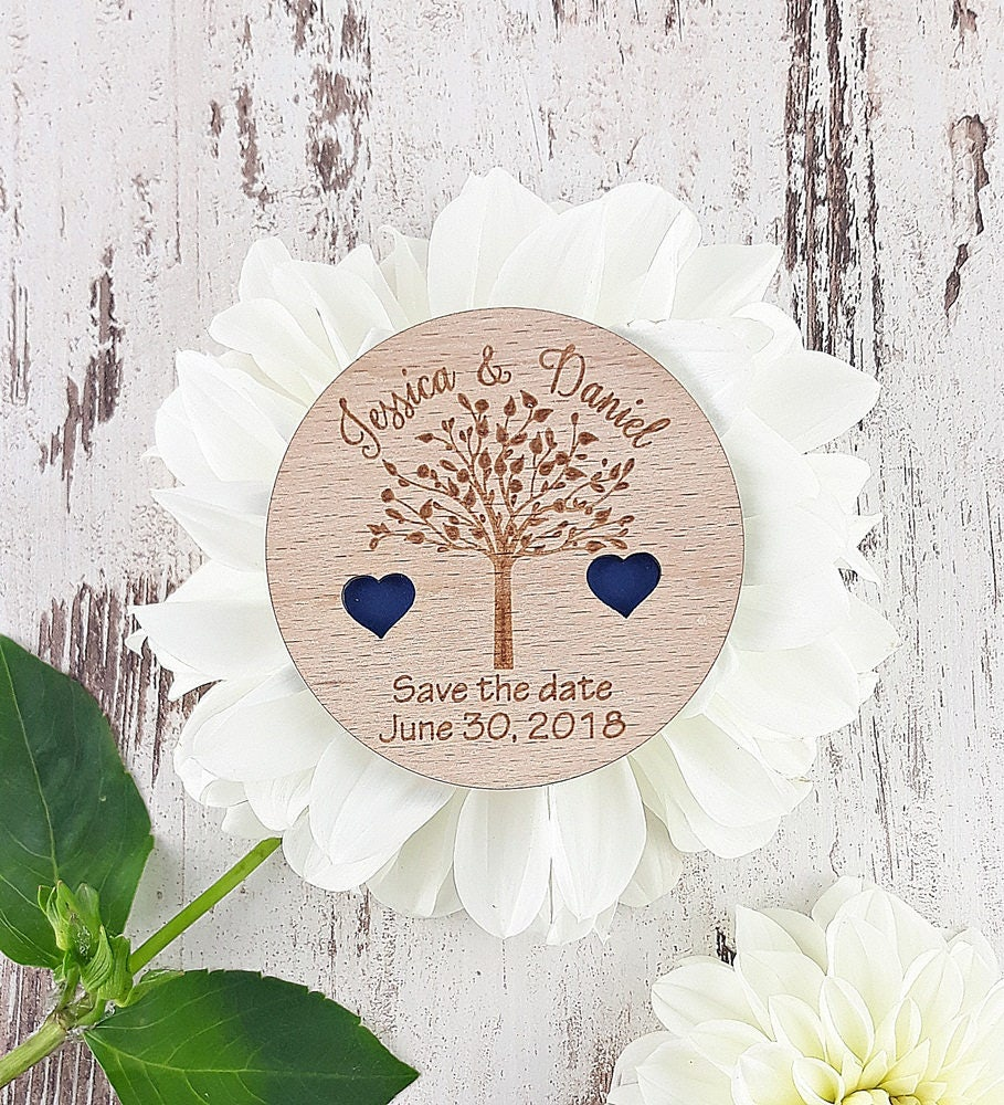 Save The Date Magnet, Tree Save The Date, Wood Save The Dates ...