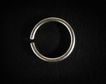 Platinum, septum ring,  cartilage earring, cartilage hoop, helix piercing, indian nose ring, tragus piercing, tragus hoop, septum piercing