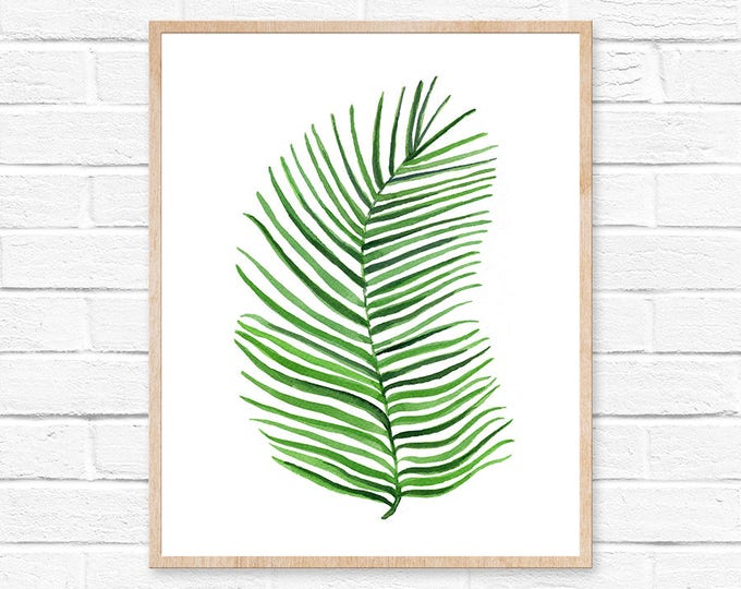 Watercolor Palm Print No.101 Palm Leaf Art Palm Wall Art Tropical Print Plant Home Decor Green Art Botanical Art Tropical Artwork Greenery