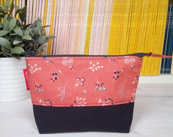 Zippered handbag pouch with zipper-pouch with base-sachet with base