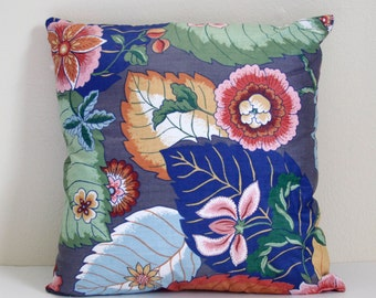 Hand Sewn Tropical Palm Throw Pillow