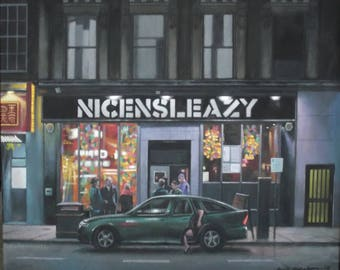 NicenSleazy's Bar, Glasgow. Art Print.