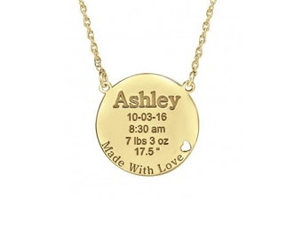 Push present - new mom necklace - push present for mom new mom jewelry new mommy gifts necklace custom name, new mom child name necklace