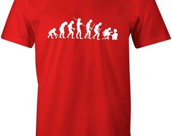 Evolution of Geek Cool Retro Men's T-shirt
