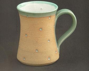 Hand Thrown Stoneware Dotty Mug