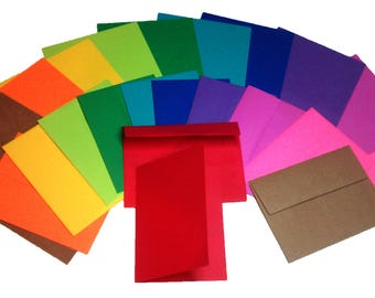 12 Blank Multi-Colored Note Cards with Matching Envelopes