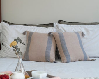 SALE! French Inspired Hand Woven Pillow (W/ form)