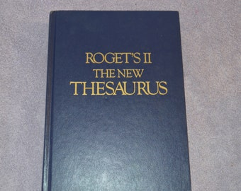 Roget's II The New Thesaurus Hardcover Book C 1980 No Dust Jacket