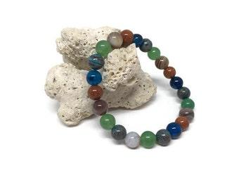 Gemstones bracelet, Healing bracelet, Powerful bracelet, Balance bracelet