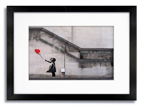 Banksy Balloon Girl There Is Always Hope Mounted