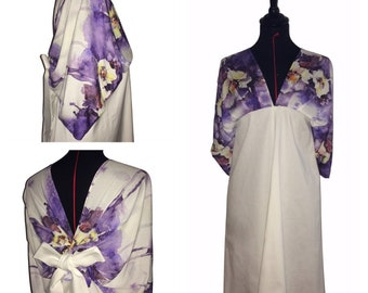 "Robe- ""Aquarelle fleurs mode"" - T36 jusqu'a T40"