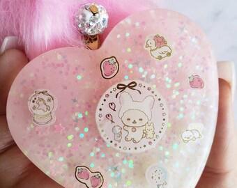 Korilakkuma strawberry purse charm