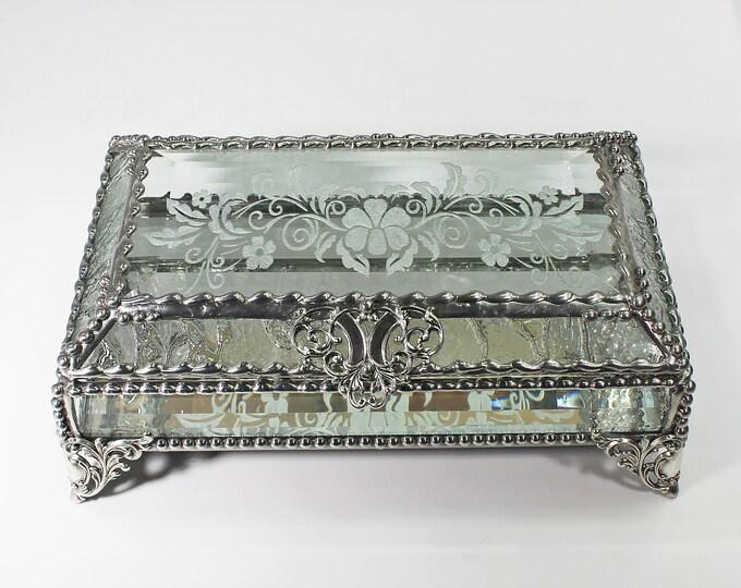 Victorian Lace, Wedding Jewelry Box, Trinket Box, Treasure Box, Stained Glass Box, Faberge Style, Treasure Box, Wedding Box
