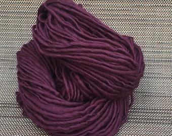 Handspun Yarn, Merino Wool Yarn, Thick and Thin Yarn,Bulky Yarn, Knitting and Crochet Supplies,  77yds