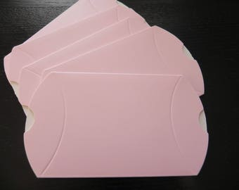 Set of 5 pink sugared almond milk measuring 7 x 9 cm open