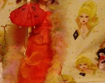 Barbie Orange gown 121B