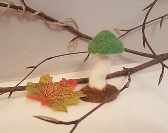 Tiny Needle Felted Toadstool