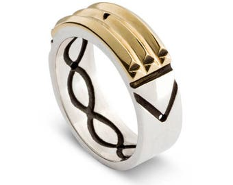 Atlantis 18k gold and silver 950 hige quillity the ORIGINAL RING – Purifying negative energies , success in anything for men and women