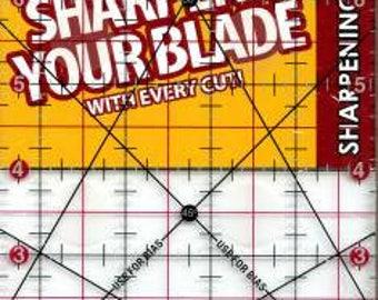 Quilt Ruler, The Cutting Edge,  Acrylic Ruler, Sullivans Ruler, Clear Acrylic Ruler, Non Skid Ruler, Diamond Carbide Edge