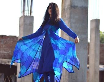 Shibori flowing dress