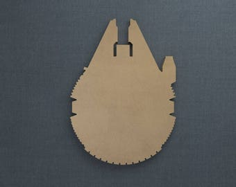Millenium Falcon, Wood Cutout, Unfinished Sign