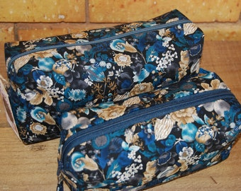Oriental Blossom cosmetic bags