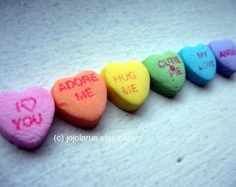 Art Photography - Rainbow Candy Heart Art Photograph 2, 8x10
