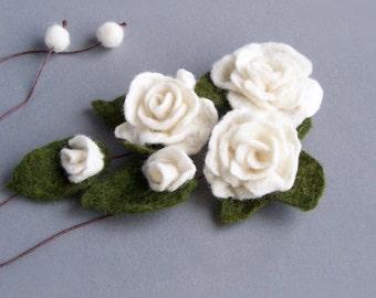 Rose headband Ivory white flower necklace Floral belt wrap bracelet Floral Bohemian Romantic wedding Multiuse