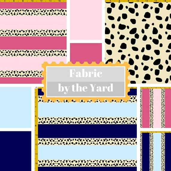 Fabric by the Yard - Cheetah Tropical - Ocean Blue &  Pink Berry, Upholstery, Quilting, Linen, Cotton, Minky, Fleece, Organic Cotton, DIY