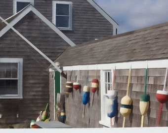 Buoys at Scituate Lighthouse, Scituate, Massachusetts, Colorful Buoys, Pastels Photography