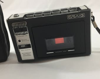 Craig Cassette Tape Player #2629 Portable Does NOT Work Decor Piece For Parts